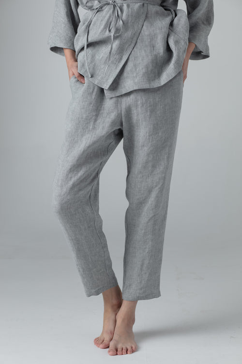 NARROW PANTS medium grey
