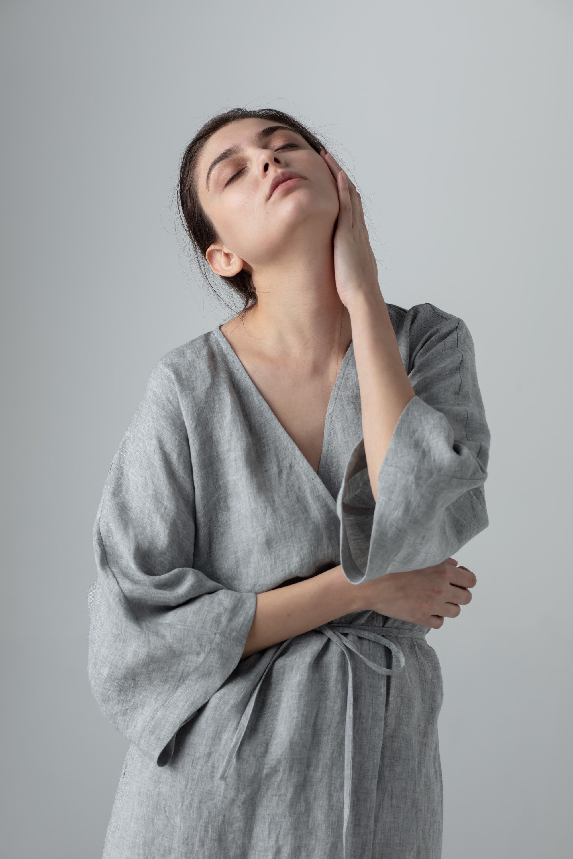 SCANDI ROBE medium grey
