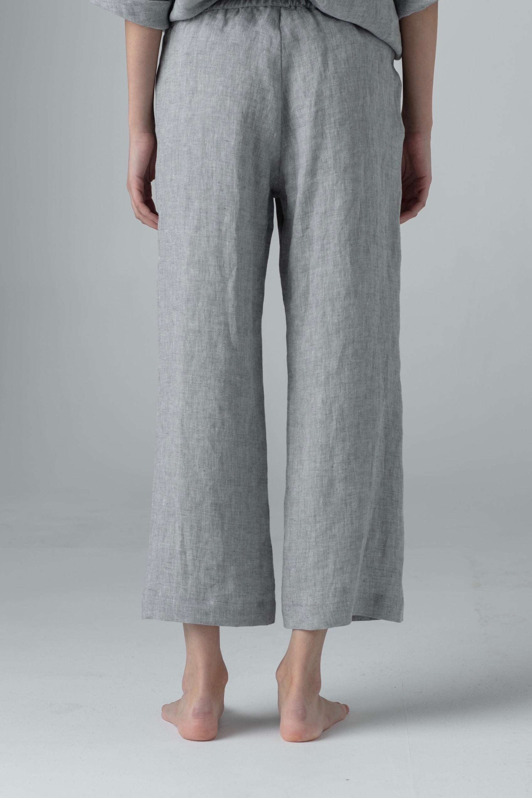 STRAIGHT PANTS medium gray