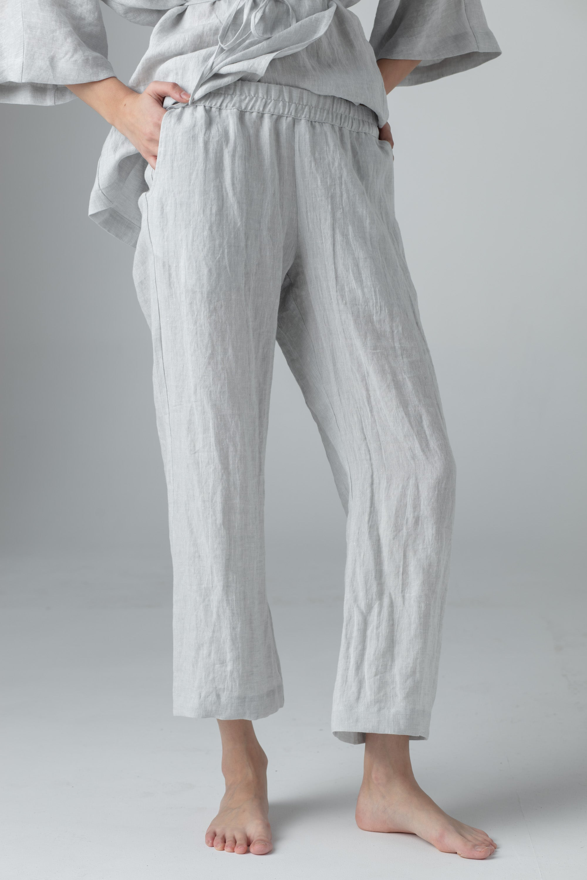 STRAIGHT PANTS light grey