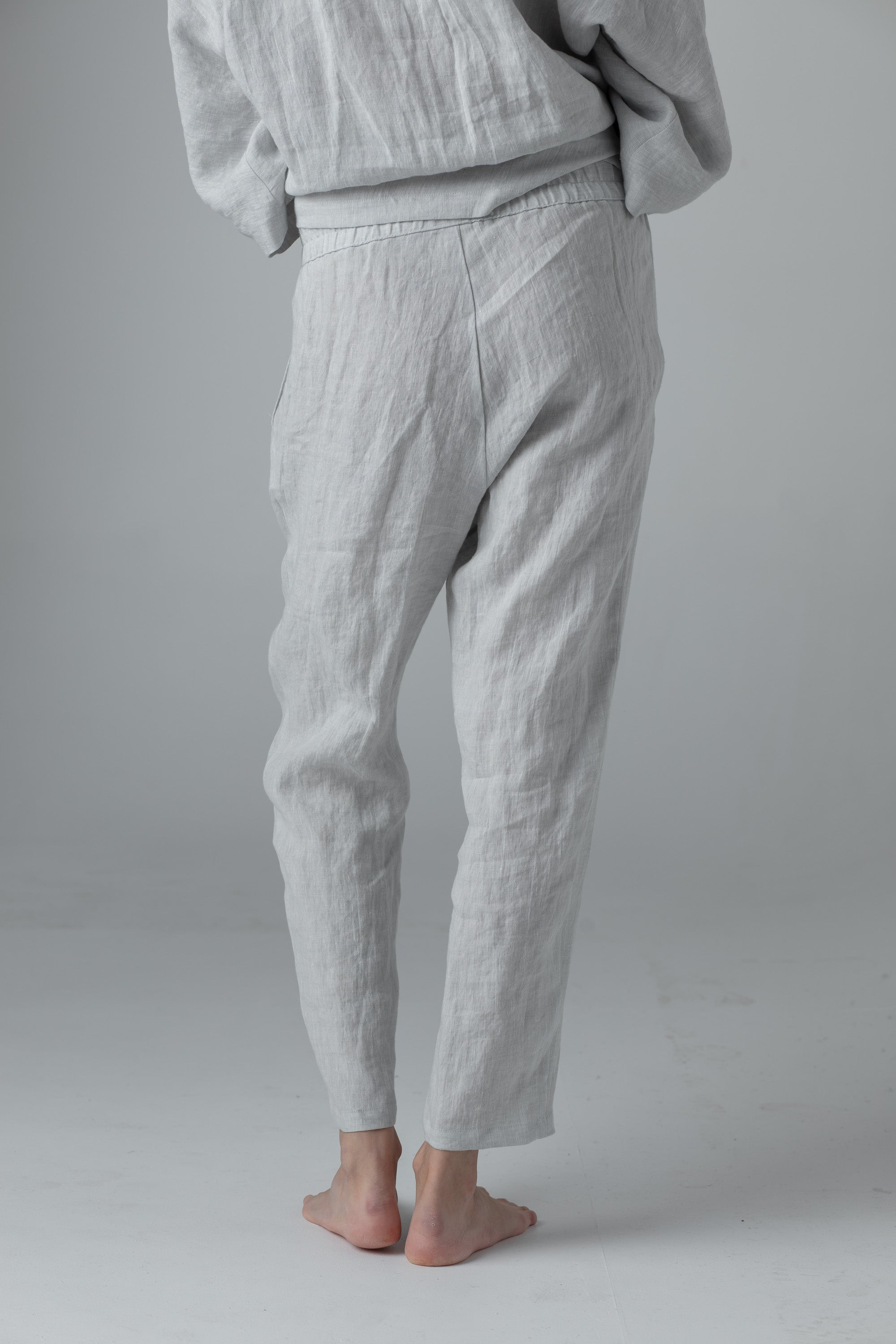 NARROW PANTS LIGHT GREY