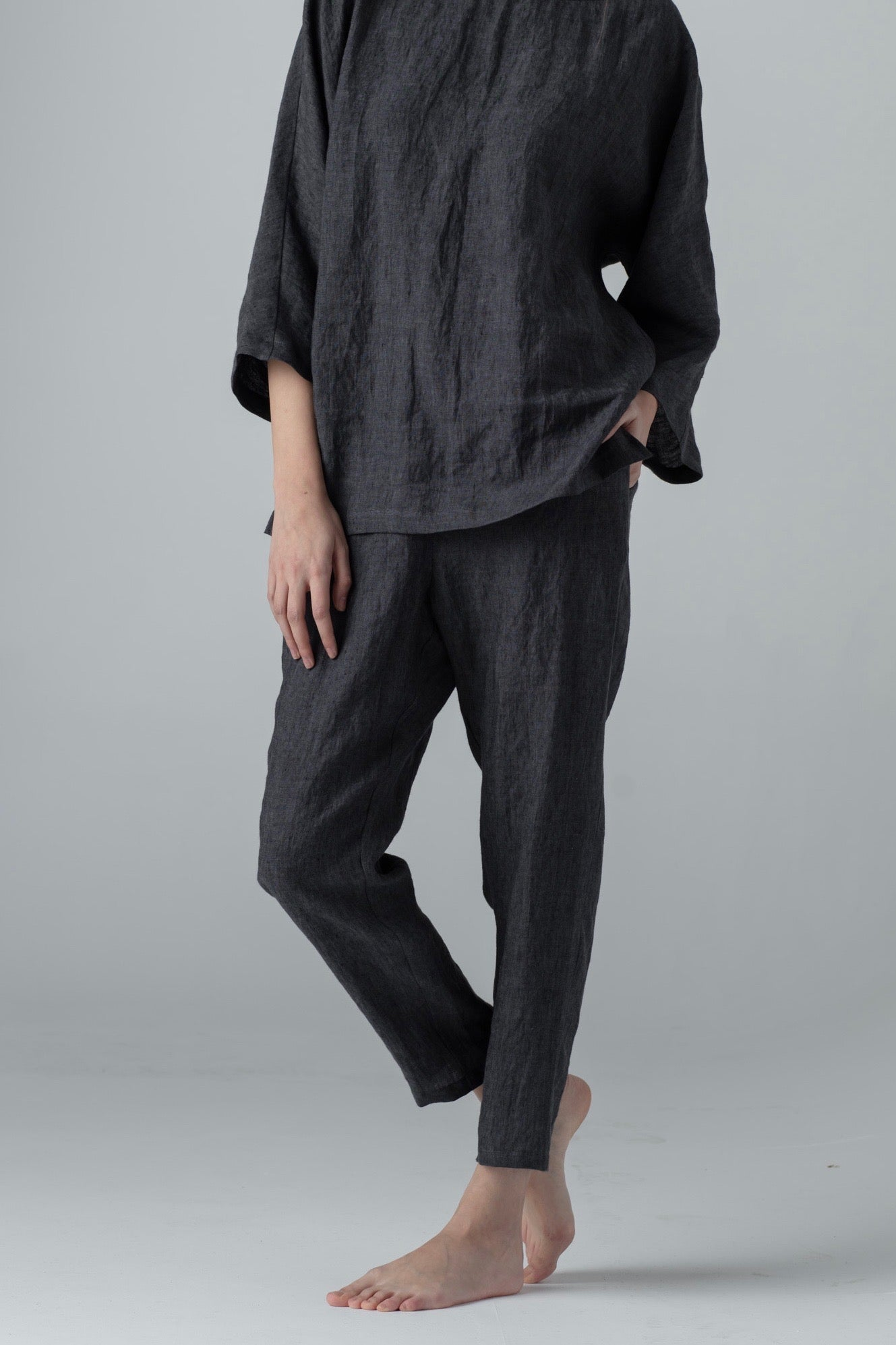 NARROW PANTS dark grey