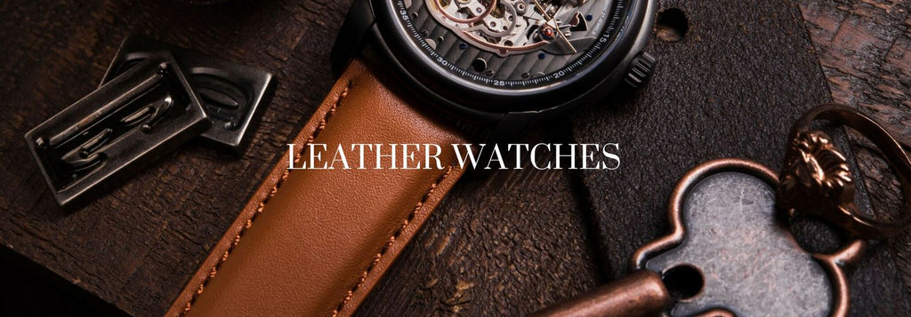 Men's Leather Watches Australia - The Watch Factory