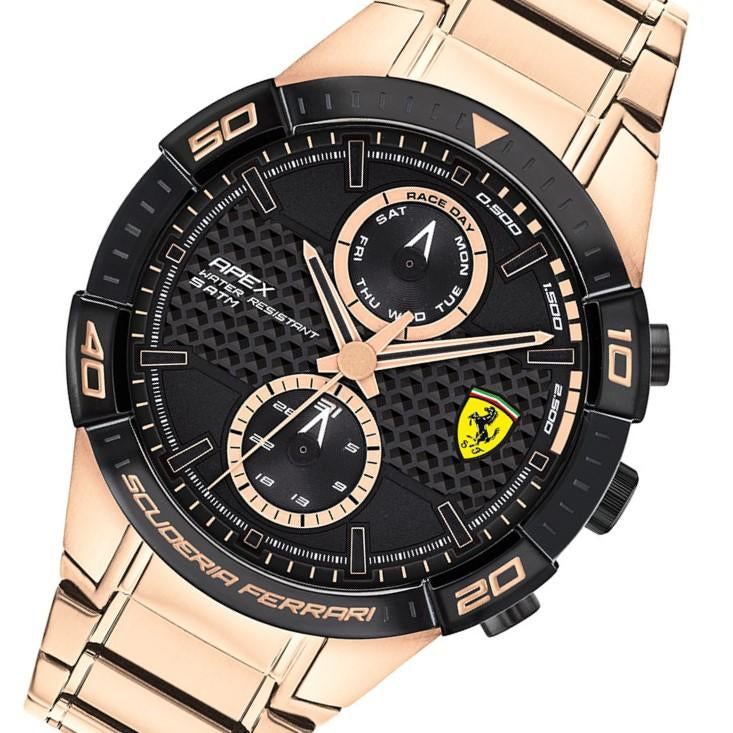 Ferrari Apex Rose Gold Steel Men's Multi-function Watch - 830640