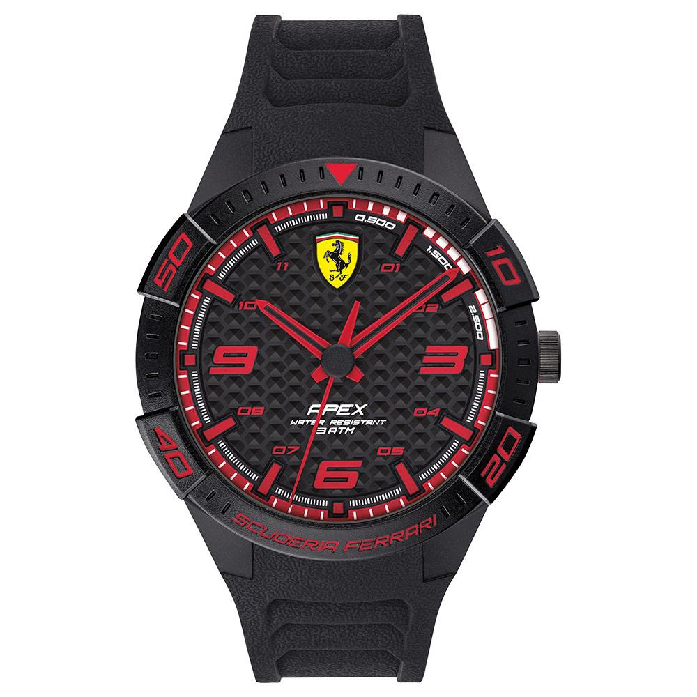 Scuderia Ferrari Apex Black Silicone Men's Watch - 830662