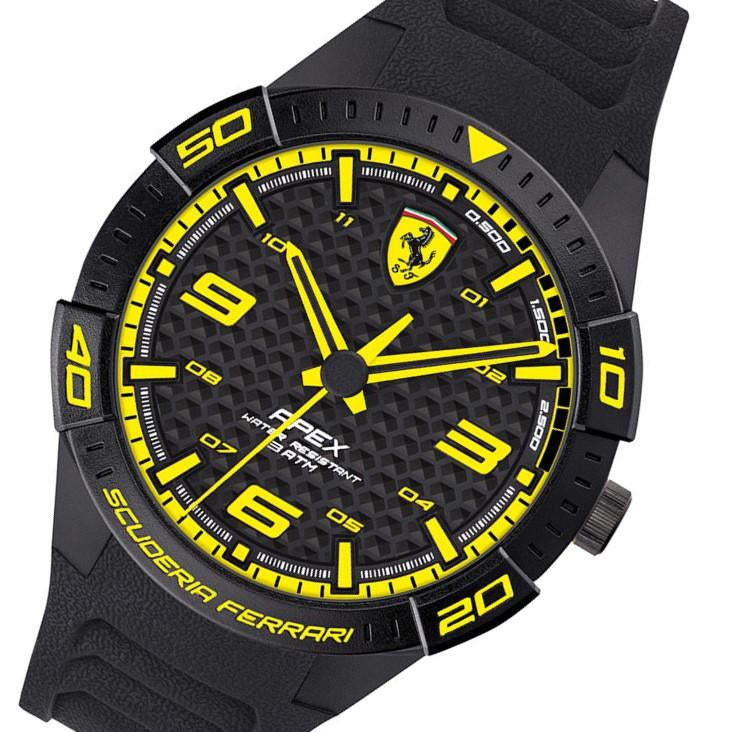 Scuderia Ferrari Apex Black Silicone Men's Watch - 830663