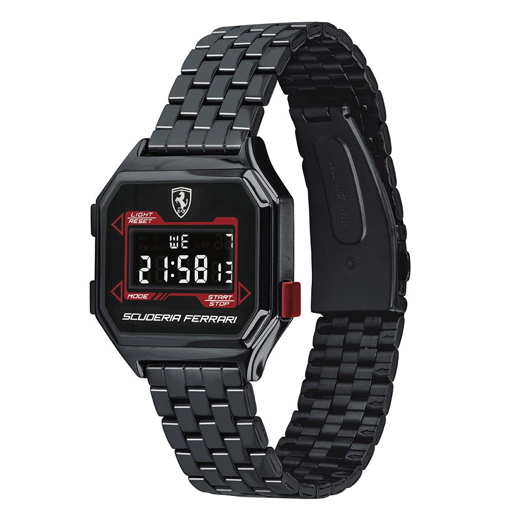 Scuderia Ferrari Digitaldrive Black Steel Men's Watch - 830704