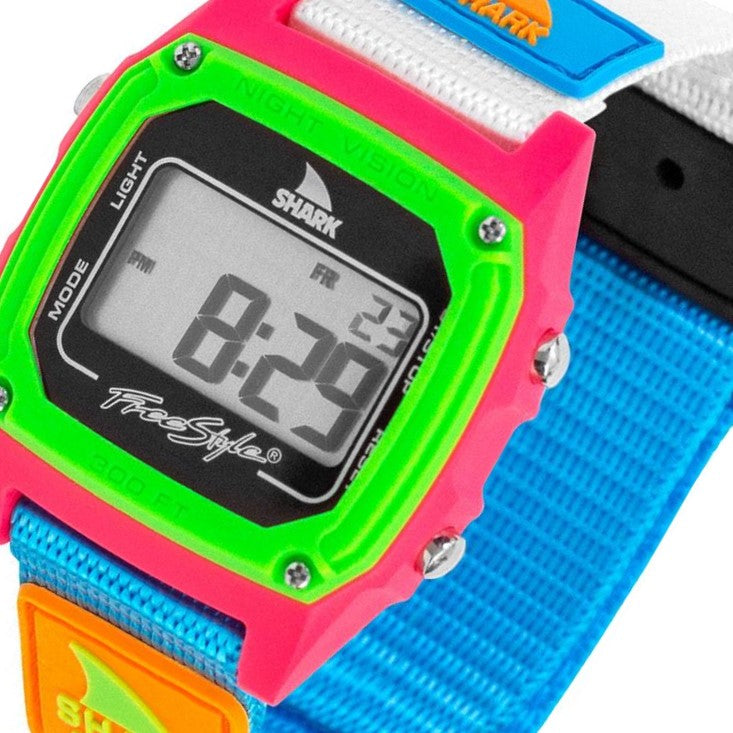 Freestyle Shark Classic Clip Black & Neon Watch - 10006644