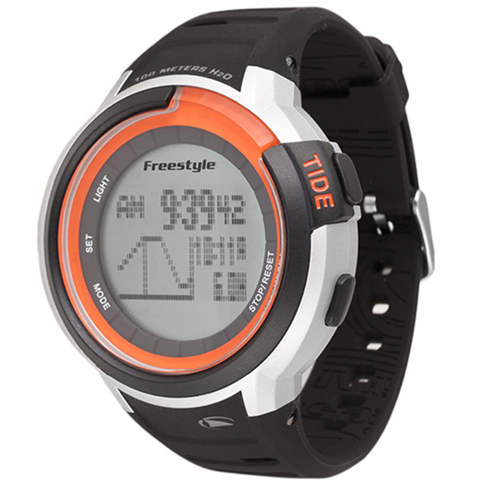 Freestyle Mariner Tide Black, Silver & Orange Watch - 10022919