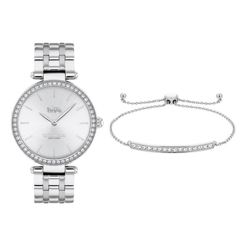 Coach Park Stainless Steel Women's Watch and Bracelet - 14000070