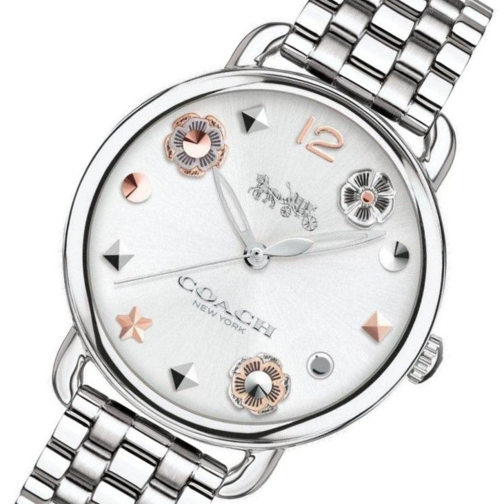 Coach Delancey Silver Ladies Watch - 14502810