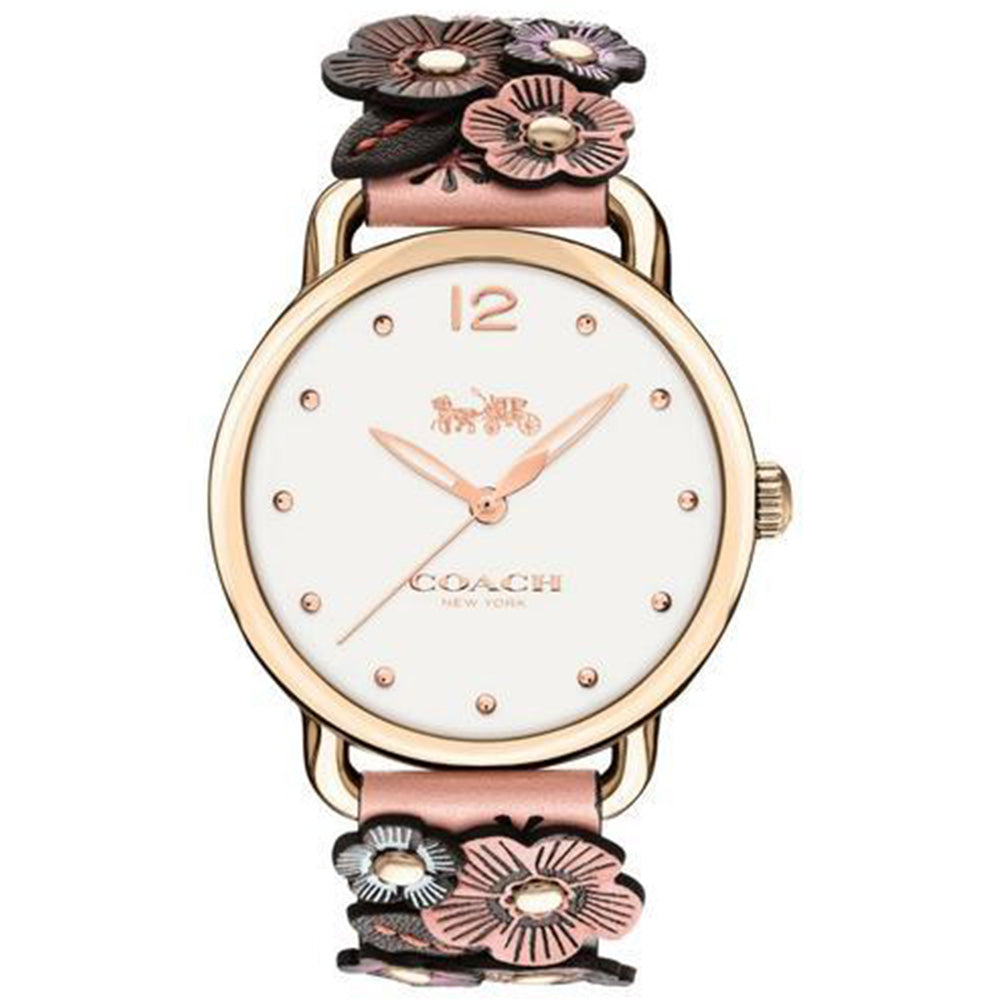 Coach Ladies Delancey Tea Rose Watch - 14502822