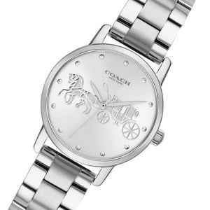 Coach Grand Silver Ladies Watch  - 14502975
