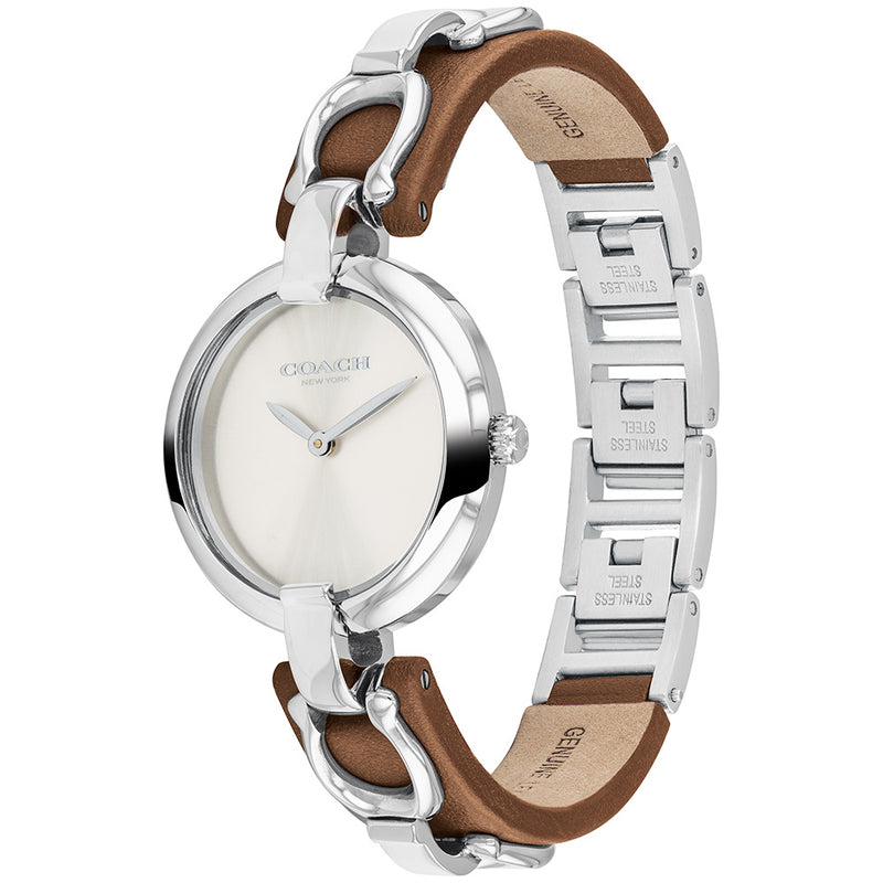 Coach Chrystie Minimalist Leather Women's Watch - 14503090