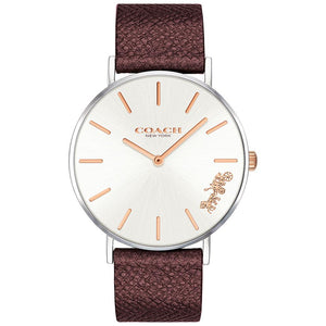 Coach Perry Burgundy Leather Women's Watch - 14503154