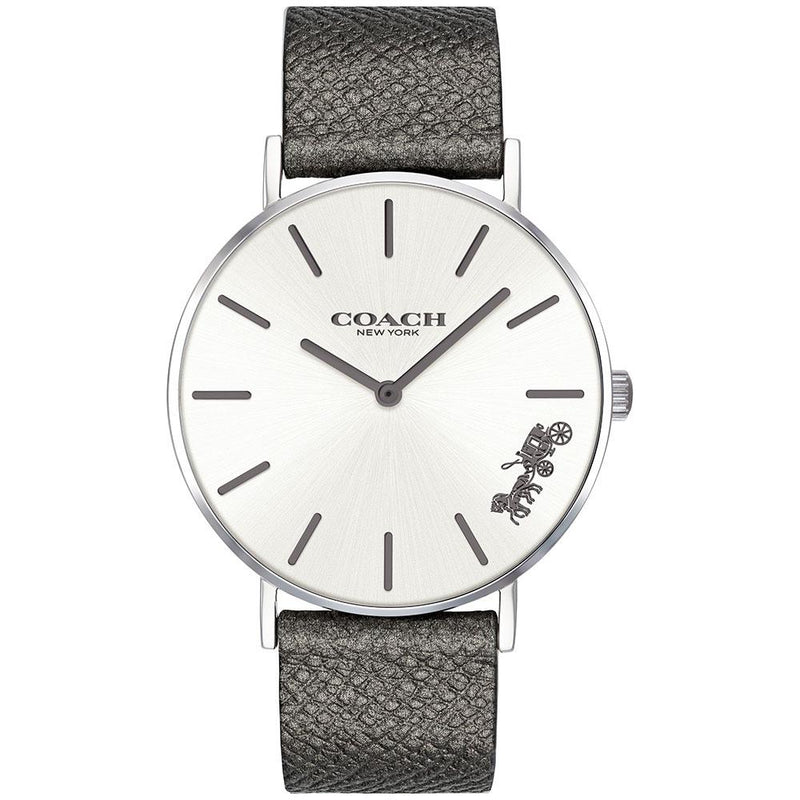 Coach Perry Grey Leather Women's Watch - 14503155