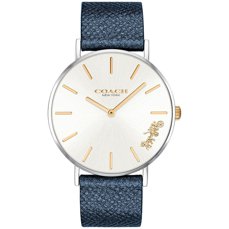 Coach Perry Blue Leather Women's Watch - 14503156
