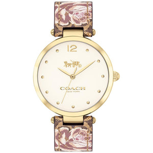 Coach Park Floral Leather Women's Watch - 14503178