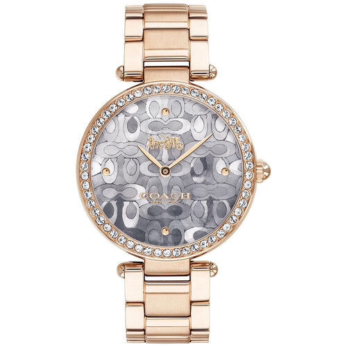Coach Park Signature C Carnation Gold Steel Ladies Watch - 14503223