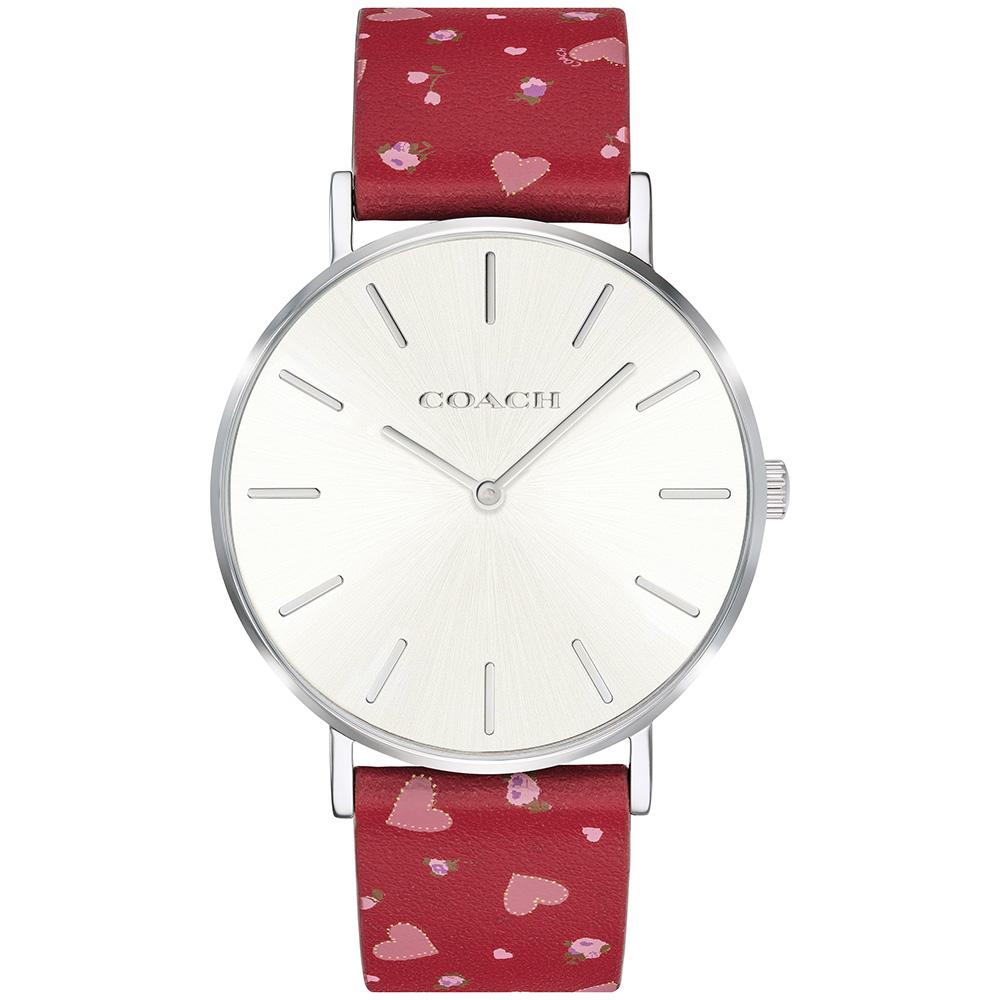 Coach Perry Patterned Leather Ladies Watch - 14503228