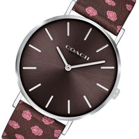 Coach Perry Floral Calfskin Ladies Watch - 14503229