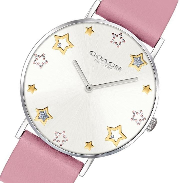 Coach Perry Pink Leather Ladies Watch - 14503243