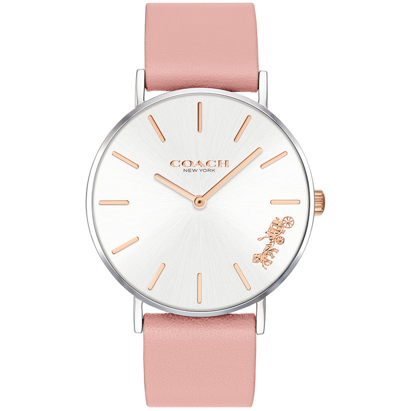 Coach Perry Pink Leather Ladies Watch - 14503258