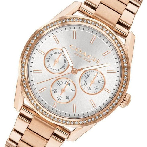 Coach Preston Rose Gold Ladies Sport Watch - 14503267