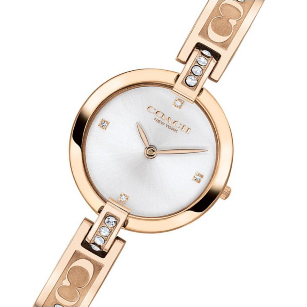 Coach Chrystie Carnation Gold Steel Ladies Watch - 14503317
