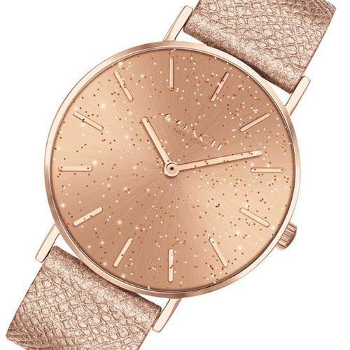 Coach Perry Metallic Blush Leather Ladies Watch - 14503322