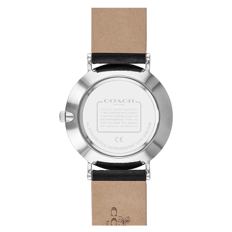 Coach Perry Black Leather Ladies Watch - 14503324