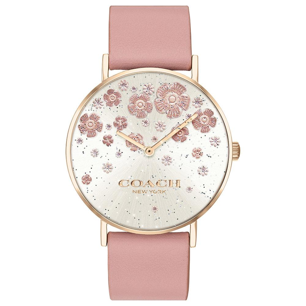 Coach Perry Blush Leather Ladies Watch - 14503325