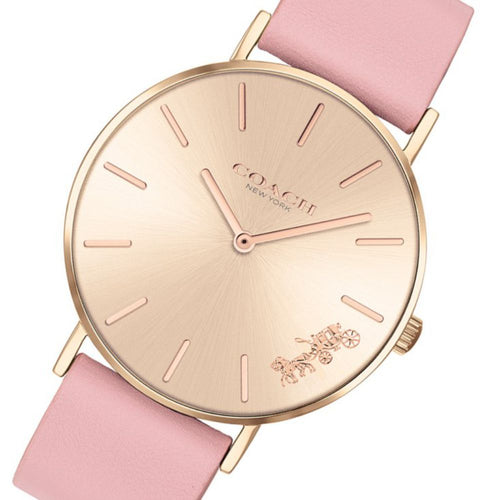 Coach Perry Pink Leather Ladies Watch - 14503332