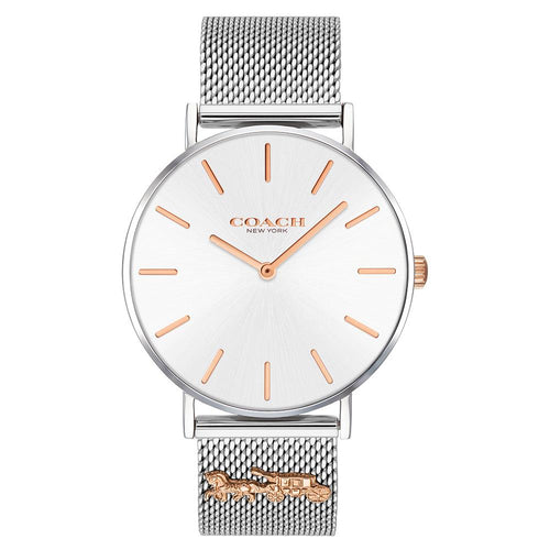 Coach Perry Silver Mesh Ladies Watch - 14503336