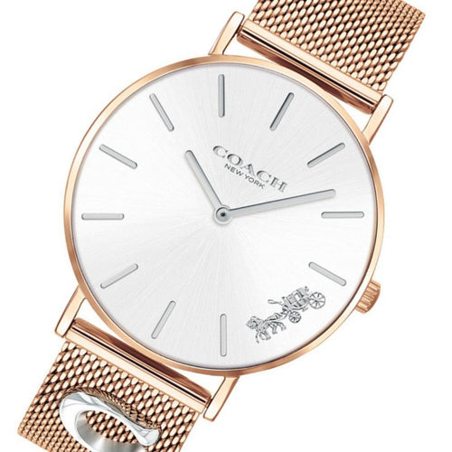 Coach Perry Rose Gold Mesh Ladies Watch - 14503338