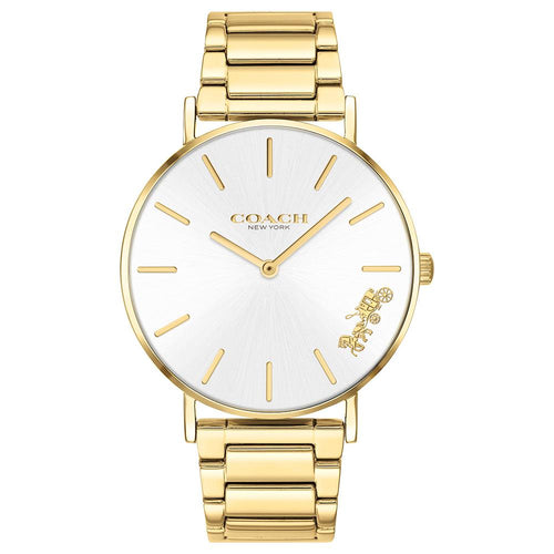 Coach Perry Gold Steel Ladies Watch - 14503345