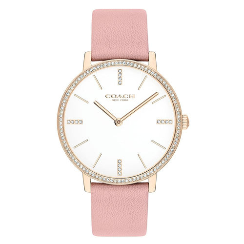 Coach Audrey Pink Leather Ladies Slim Watch - 14503350