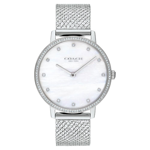 Coach Audrey Silver Mesh Ladies Slim Watch - 14503358