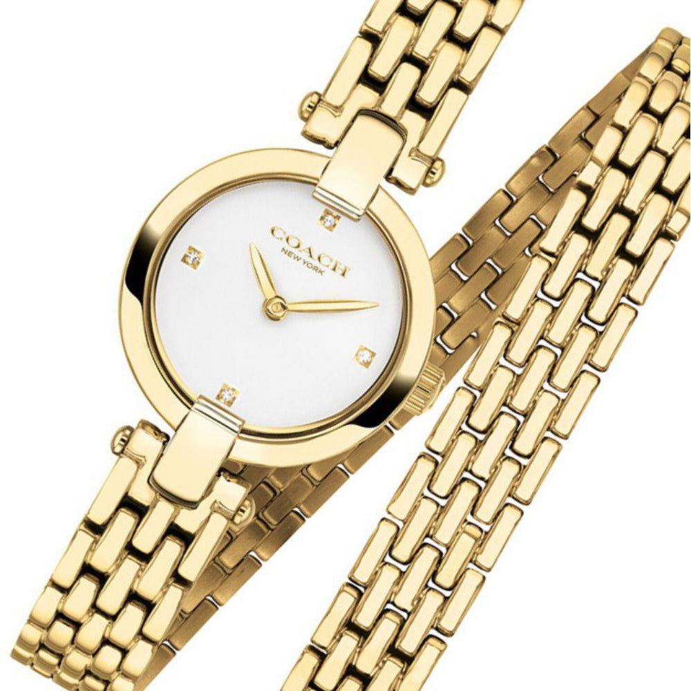 Coach Chrystie Gold Steel Ladies Watch - 14503393
