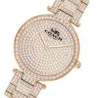 Coach Park Carnation Gold Steel with Crystals Ladies Watch - 14503428