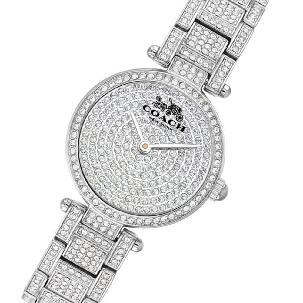 Coach Park Steel with Crystals Ladies Watch - 14503430