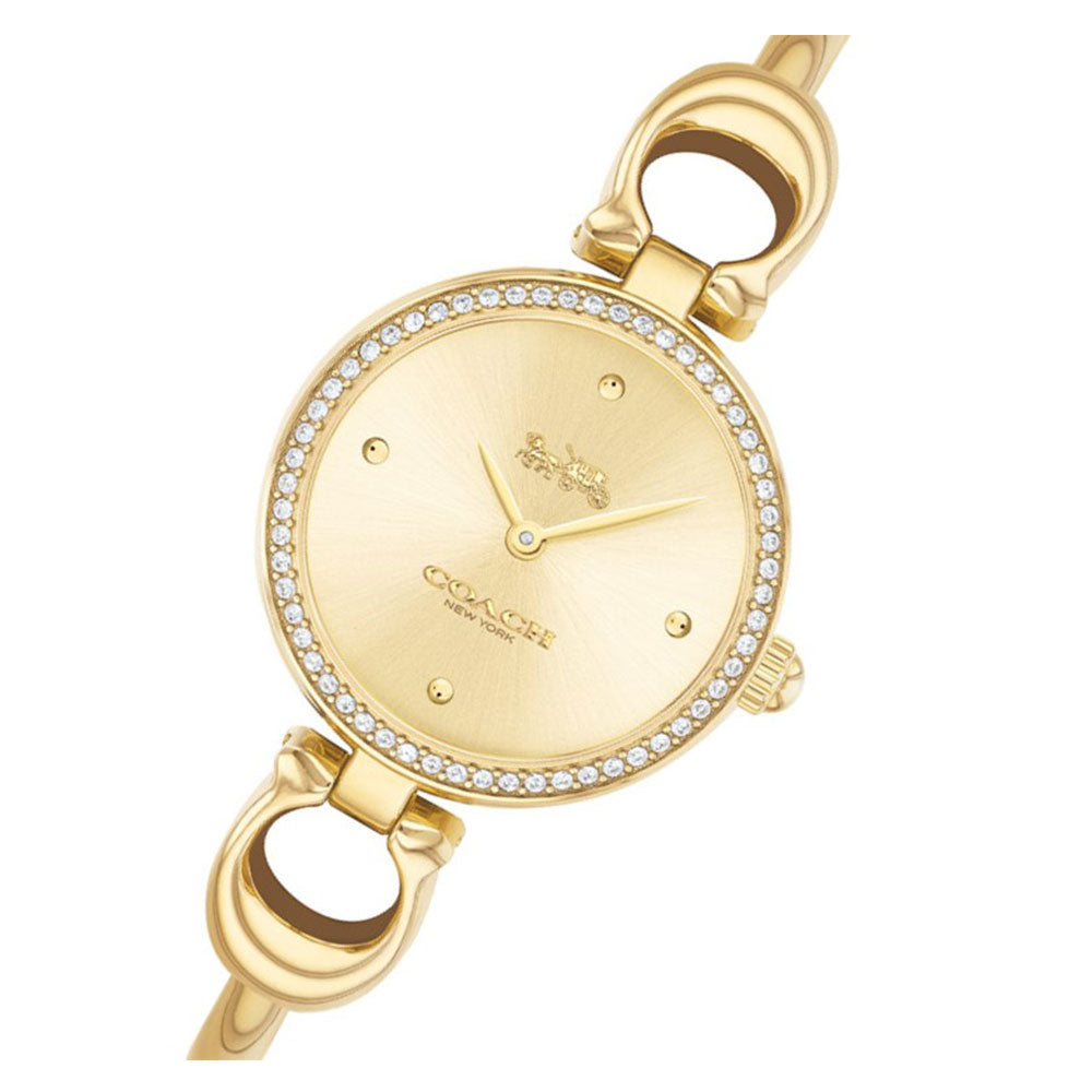 Coach Park Signature C Gold Steel Bangle Ladies Watch - 14503446