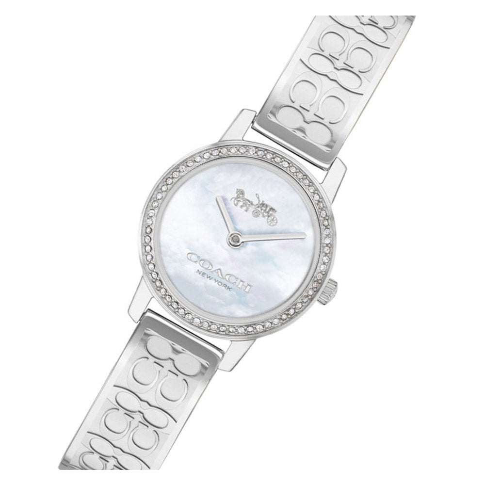 Coach Signature C Silver Steel with Swarovski Crystals Ladies Watch - 14503496