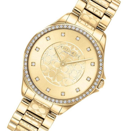 Coach Astor Gold Steel Women's Watch - 14503504