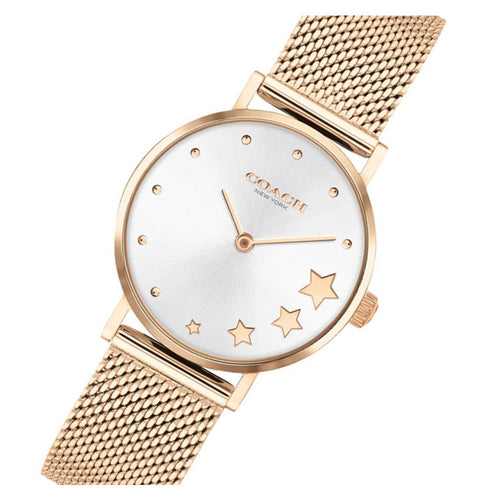 Coach Perry Rose Gold Mesh Ladies Watch - 14503520