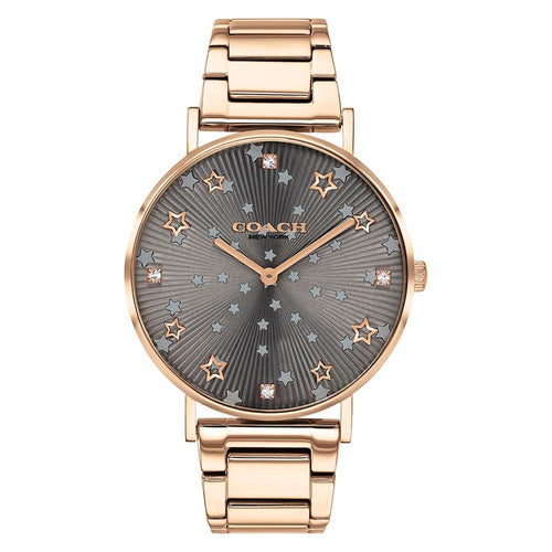 Coach Perry Carnation Gold Steel Ladies Watch - 14503524