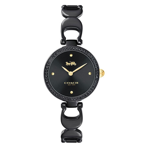 Coach Park Black Steel Ladies Watch - 14503564