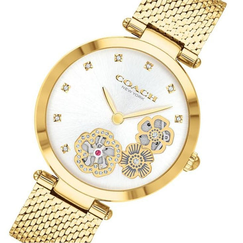 Coach Park Gold Steel Ladies Multi-function Watch - 14503568