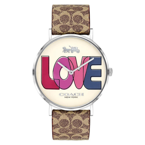 Coach Perry Brown Leather Ladies Watch - 14503570