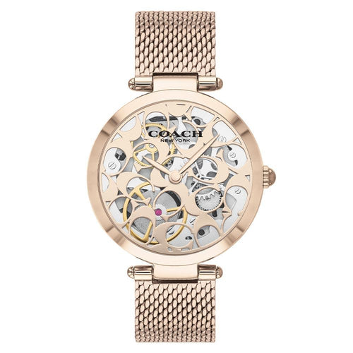 Coach Park Carnation Gold Mesh Women's Multi-function Watch - 14503595